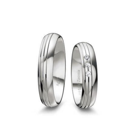 Truringe Lotte I - Silber 925 - 0,060 Crt - Zirconia