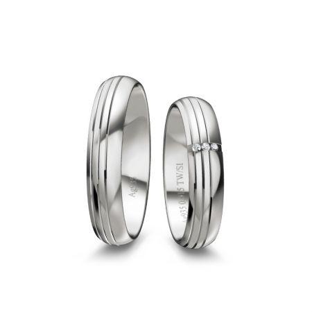 Truringe Lotte II - Silber 925 - 0,015 Crt - TW/SI