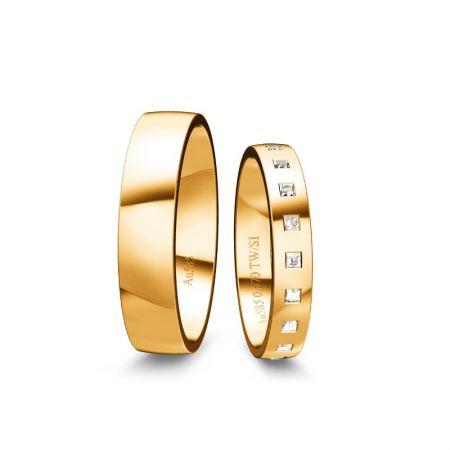 Trauringe Elli - Gelbgold 585 - 0,570 Crt - TW/SI