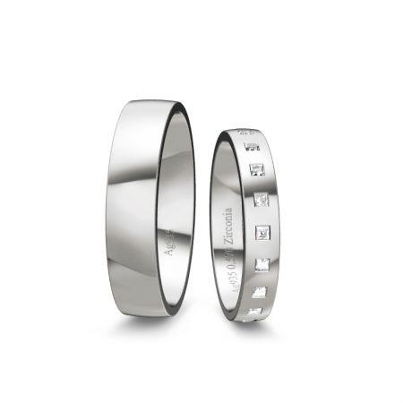 Trauringe Elli - Silber 925 - 0,570 Crt - Zirconia