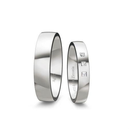 Trauringe Elli II - Silber 925 - 0,090 Crt - Zirconia