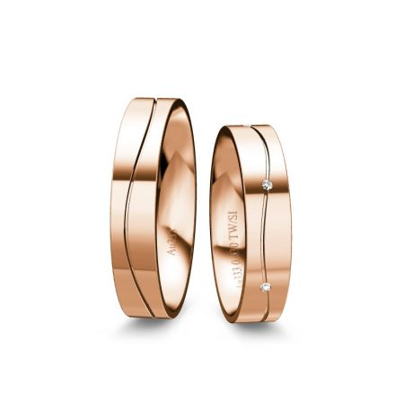 Trauringe Thea - Roségold 333 - 0,030 Crt - TW/SI
