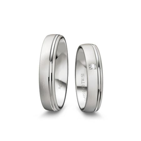 Trauringe Jasmin - Silber 925 - 0,020 Crt - TW/SI