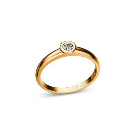 Verlobungsring Bella - Gelbgold 333 - 0,010 crt - TW/SI