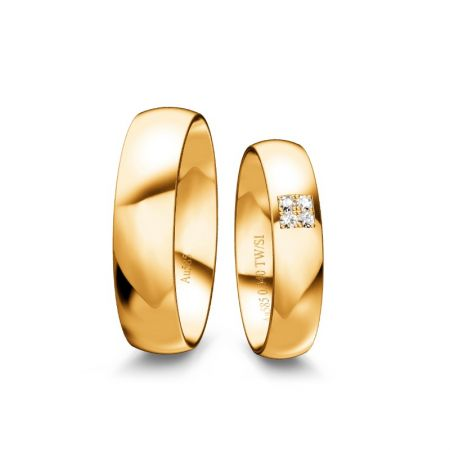 Trauringe Lucy I - Gelbgold 585 - 0,040 Crt - TW/SI