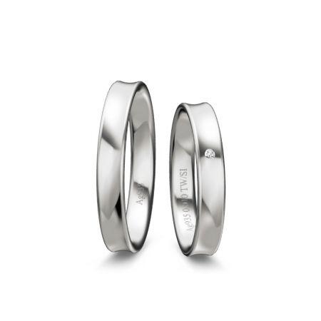 Trauringe Amalia - Silber 925 - 0,010 Crt - TW/SI