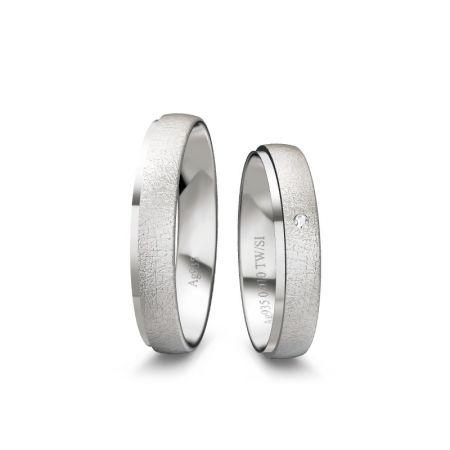 Trauringe Chiara - Silber 925 - 0,010 Crt - TW/SI