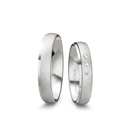 Trauringe Chiara I - Silber 925 - 0,030 Crt - TW/SI