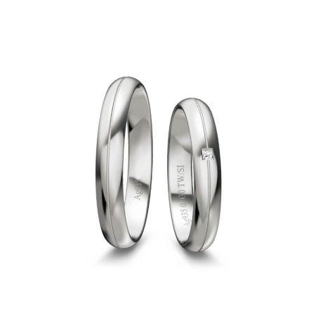 Trauringe Marleen - Silber 925 - 0,030 Crt - TW/SI