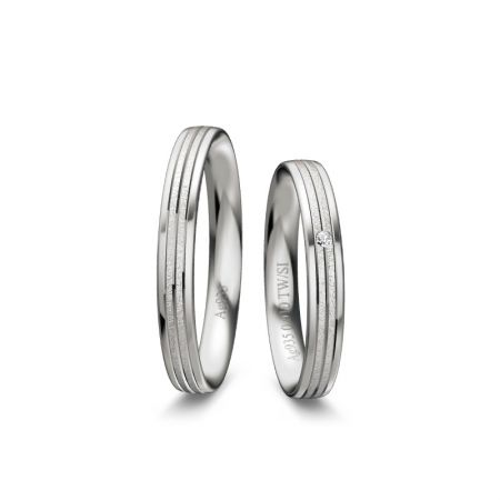 Trauringe Martha - Silber 925 - 0,010 Crt - TW/SI