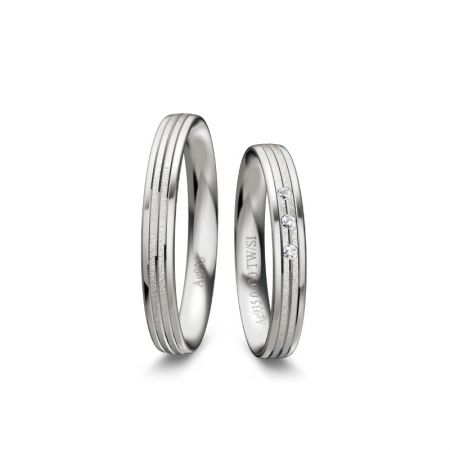 Trauringe Martha I - Silber 925 - 0,030 Crt - TW/SI